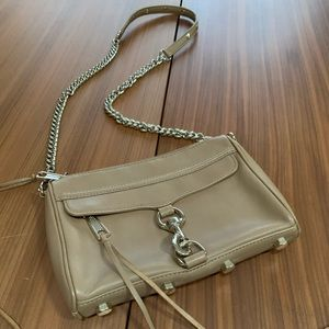 Rebecca Minkoff Mini Mac Tan Leather Crossbody Bag